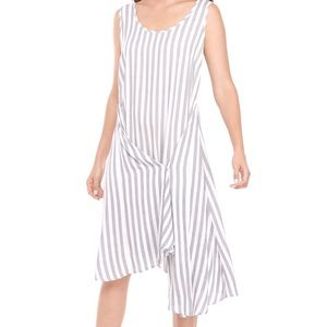 NWT MSK striped dress w/snap front